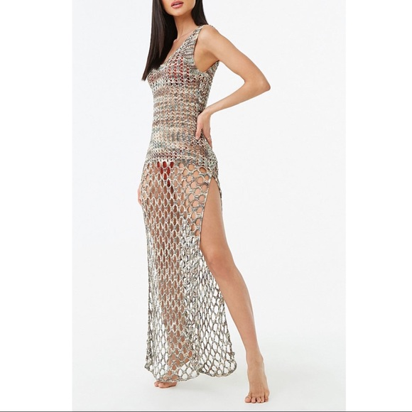 b536f6dc30 Swim | New Marled Knit Slit Maxi Coverup Dress S | Poshmark